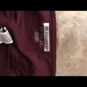 Forever 21 leggings burgundy